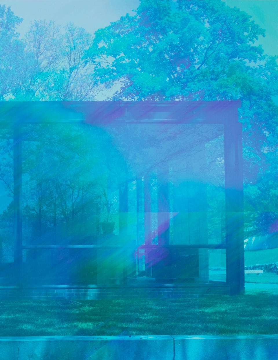 James Welling (born 1951) Glass House 5905, 2008 11 x 17 1/8 in. (27.9 x 43.5 cm) (This work is from the number twenty-two of the edition of twenty-five.)