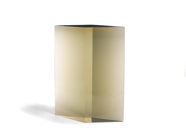 De Wain Valentine (born 1936) Diamond Column Maquette, 1969 22 3/4 x 16 1/2 x 6 in. (57.8 x 41.9 x 15.2 cm)
