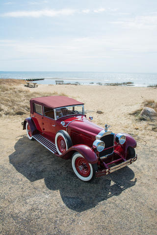 <b>1928 Packard CUSTOM EIGHT MODEL 4-43 CONVERTIBLE SEDAN</b><br />Chassis no. 227594<br />Engine no. 227591A