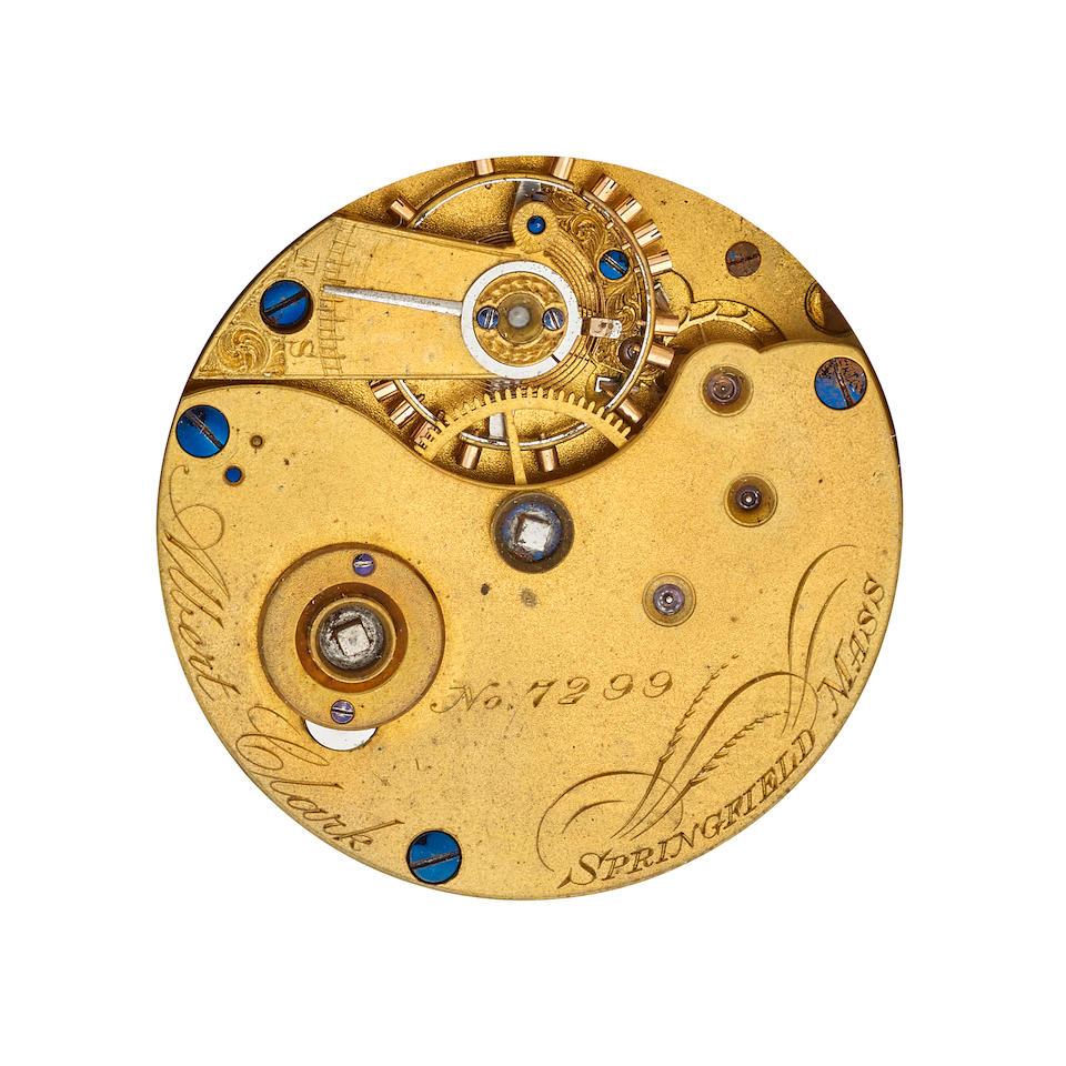 New York Watch Co., Springfield Mass. An 18K gold hunter cased watch Albert Clark,