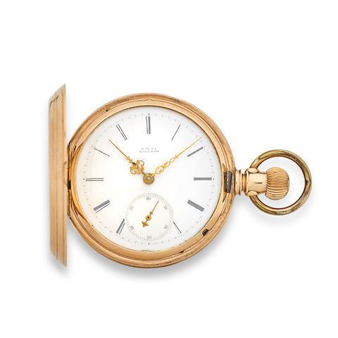 Waltham. A gold hunter cased watch Am'n Watch Co.,