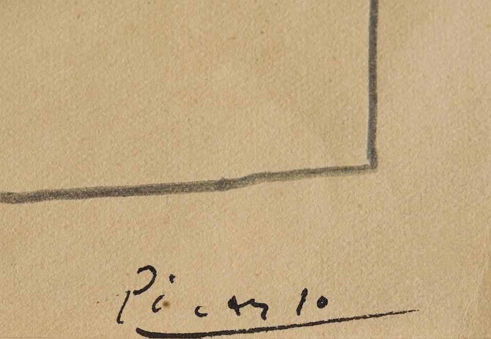Picasso, Etude (mandoline), 4 5/8 x 6 3/4in.