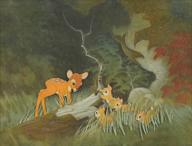 A celluloid of Bambi from Bambi
