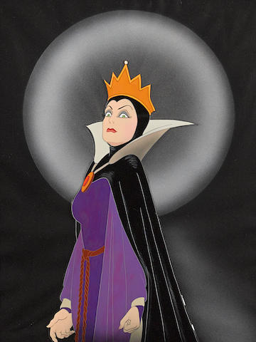 A celluloid of the Queen from Snow White and the Seven Dwarfs