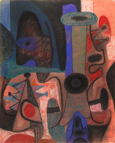 Byron Browne (1907-1961) Abstract Composition 26 x 20in