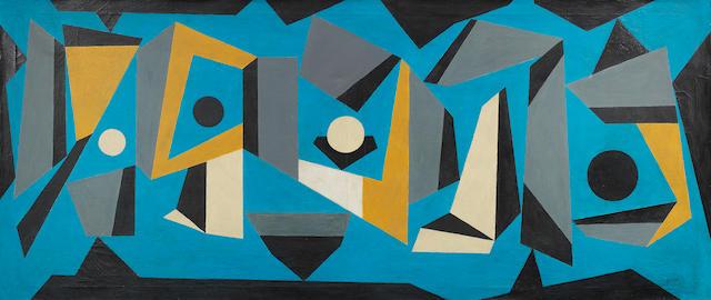 Sandú Darié (1908-1991) Levitación 54 3/4 x 23 5/8 in (60 x 139 cm)