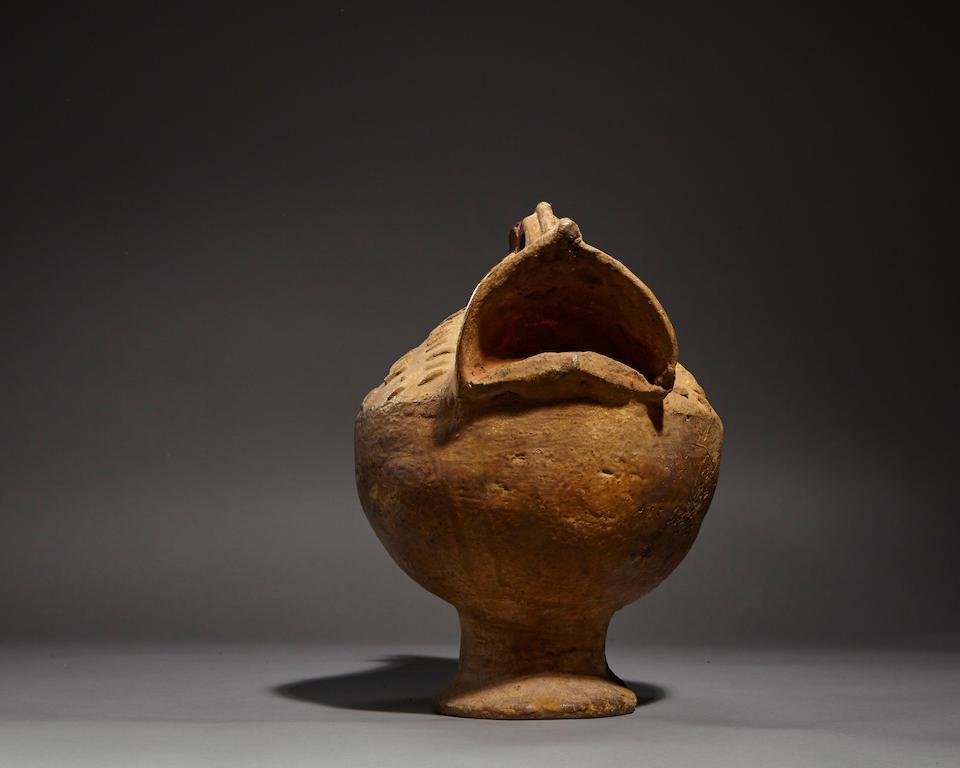 Akan Chicken-Form Ceremonial Vessel, Ghana