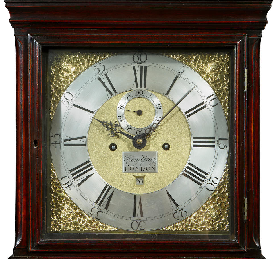 A George II mahogany tallcase clock Benjamin Gray, London second quarter 18th century
