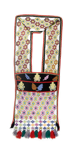 A Potawatomie beaded bandolier bag
