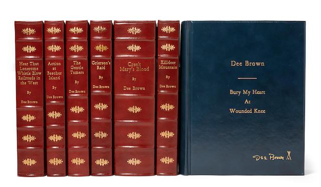 "BROWN, DORRIS ALEXANDER ""DEE."" 1910-2002. 7 bound carbon typescripts, comprising:"