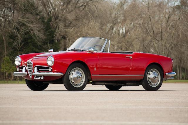 <b>1963 Alfa Romeo GIULIA 1600 NORMALE SPIDER</b><br />Chassis no. AR372724<br />Engine no. AR0012*15275