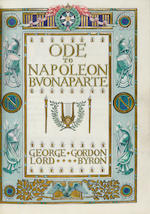 SANGORSKI & SUTCLIFFE: JEWELLED BINDING BYRON, LORD [GEORGE GORDON]. An illuminated manuscript on vellum, being Byron's Ode to Napoleon,
