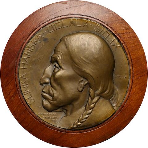 EDWARD WARREN SAWYER GALVANO OF SUNKA-HANSKA-OGLALA-SIOUX