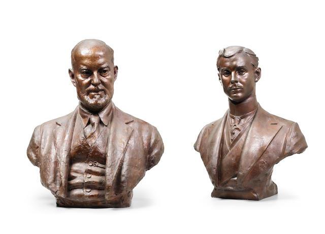 William McMillan RA M DF (1887-1977): Hon Charles Rolls & Sir Henry Royce,