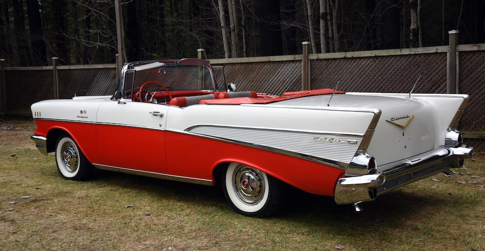 <b>1957 Chevrolet BEL AIR 'FUEL INJECTED' CONVERTIBLE</b><br />Chassis no. VC57S302368<br />Engine no. F820FJ