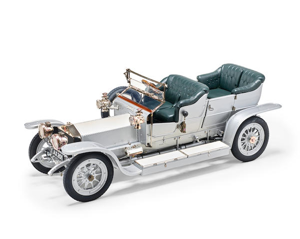 A finely detailed 1:12 scale model of the 1907 'AX 201' Rolls-Royce Silver Ghost  by Franklin Mint,
