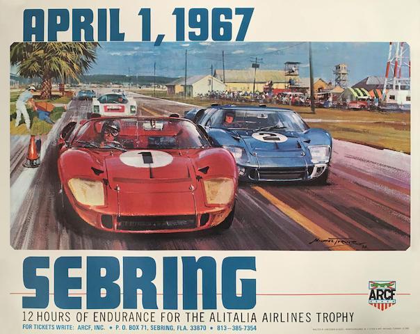 A Sebring 1967 original poster,