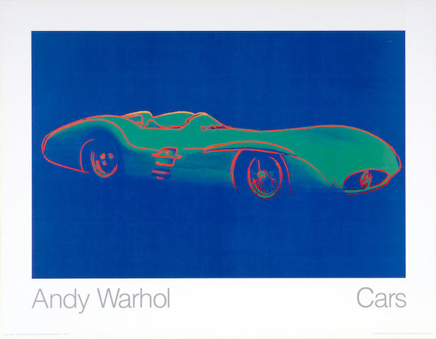 "A 1988 ""Mercedes-Benz W-196-R"" by Andy Warhol original poster,"