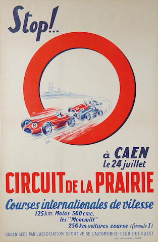 A Circuit de la Prairie 1954 original poster,