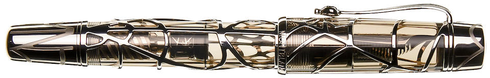 MONTBLANC: Magical Black Widow 18K Gold Limited Edition 88 Skeleton Fountain Pen