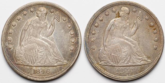 1846, 1847 $1