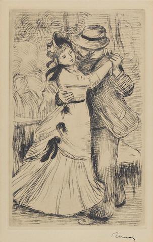 Pierre-Auguste Renoir (1841-1919); La Danse à la Campagne, 2e planche;