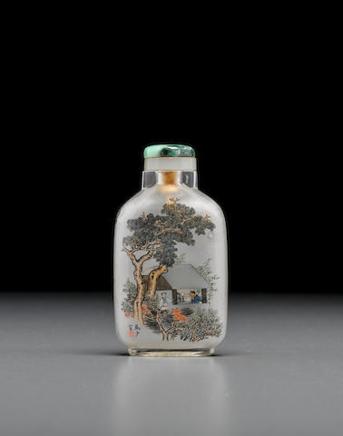 A rare inside-painted rock crystal snuff bottle Ma Shaoxuan (1867-1939)