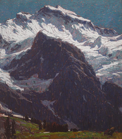 Edgar Payne (1883-1947) The Jungfrau 62 1/4 x 54 1/2in overall: 71 1/2 x 64in (Painted circa 1923-1924)