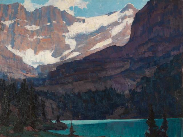 Edgar Payne (1883-1947) Sierra Lake 40 x 50in overall: 52 1/2 x 62 1/2in