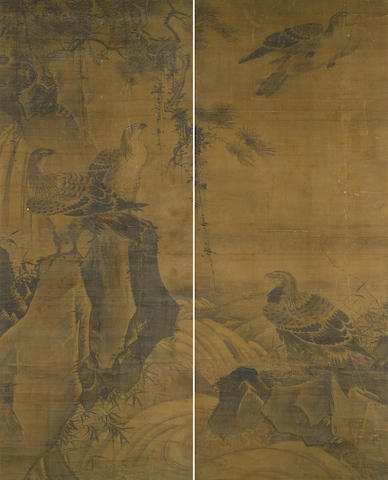Attributed to Lü Ji (1477-?)  Eagles