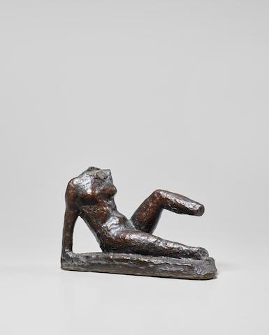 ARISTIDE MAILLOL (1861-1944) Étude de mouvement pour le monument à Paul Cézanne 4 1/8 in (10.9 cm) (height)