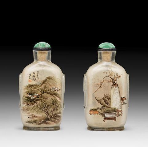 AN INSIDE-PAINTED GLASS SNUFF BOTTLE Bi Rongjiu, 1911
