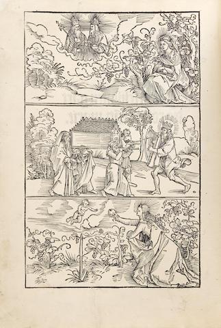 PINDER, Ulrich. fl.1489-1509. Der beschlossen gart des rosenkrantz marie. [Nuremberg: Friedrich Peypus for Ulrich Pinder, 1505.]