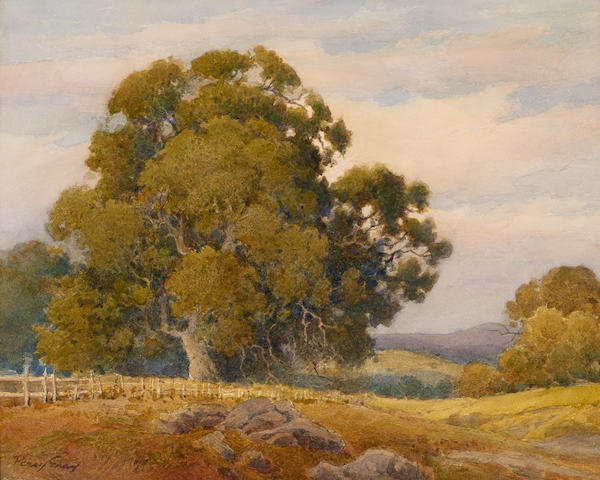 Percy Gray (1869-1952) The Salinas Road 16 3/4 x 20 1/4in overall: 23 3/8 x 27 3/8in