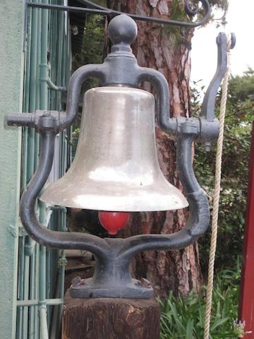 A railroad bell,