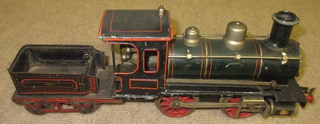 Marklin R1021 1 gauge clockwork 0-4-0 'steam' locomotive, German, circa 1909,