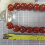 A rock crystal and carnelian court necklace, chaozhu Qing dynasty elements