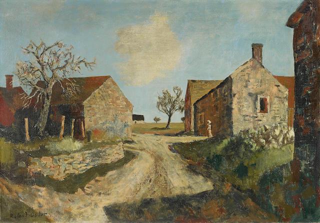 Roland Oudot (1897-1981) Route à la campagne 25 1/2 x 36 in (64.7 x 91.4 cm)