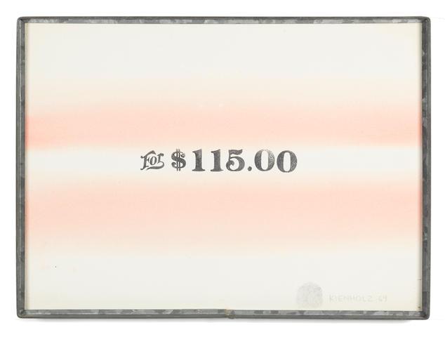 Edward Kienholz (1927-1994) For $115.00, 1969
