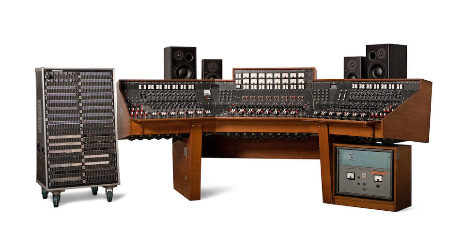 An Abbey Road Studios EMI TG12345 MK IV recording console used between 1971-1983, housed in Studio 2, the console which Pink Floyd used to record their landmark album, The Dark Side of the Moon.