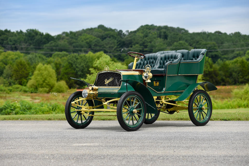 <b>1904 PREMIER MODEL F 16HP REAR ENTRANCE TONNEAU</b><br />Chassis no. Not Known