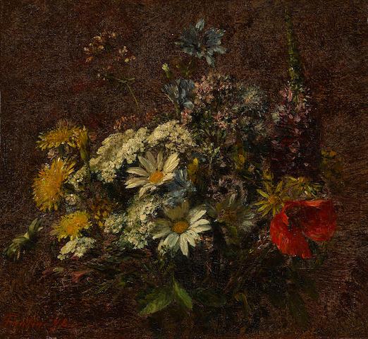 Henri Fantin-Latour (French, 1836-1904) Fleurs des champs 9 3/4 x 10 1/2in (25 x 26.6cm)
