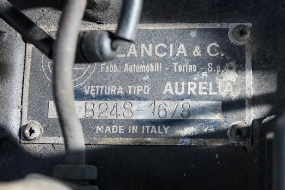 <b>1958 Lancia Aurelia B24S Cabriolet</b> <br /> Chassis no. B24S 1678 <br /> Engine no. 1798