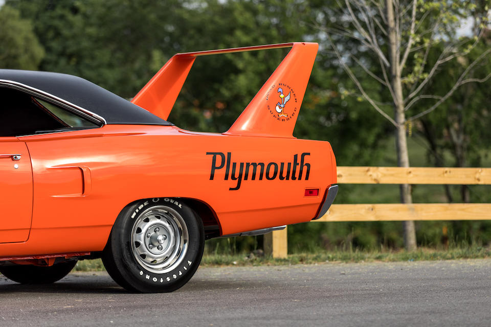 <b>1970 Plymouth Road Runner Superbird</b><br />  Chassis no. RM23U0A164599<br /> Engine no. 0A 64599
