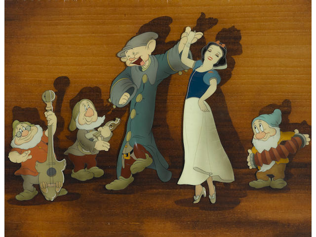 A celluloid of Snow White from Snow White and the Seven Dwarfs