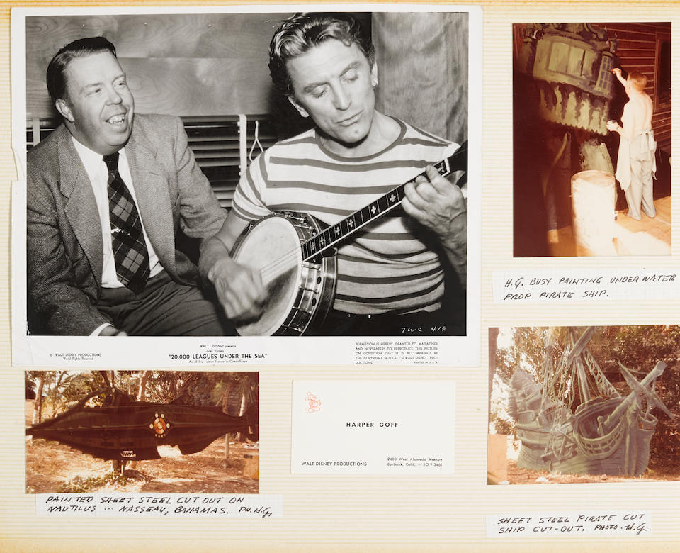 A Harper Goff scrapbook pertaining to 20,000 Leagues Under the Sea