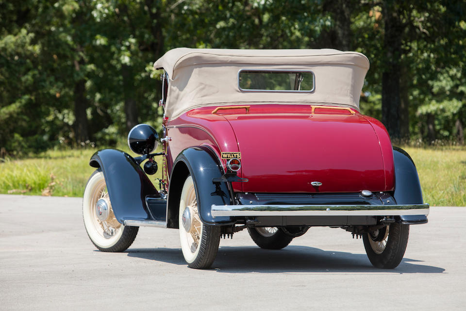 <b>1931 Willys Roadster</b><br />Chassis no. 97 24812<br />Engine no. 97-24931