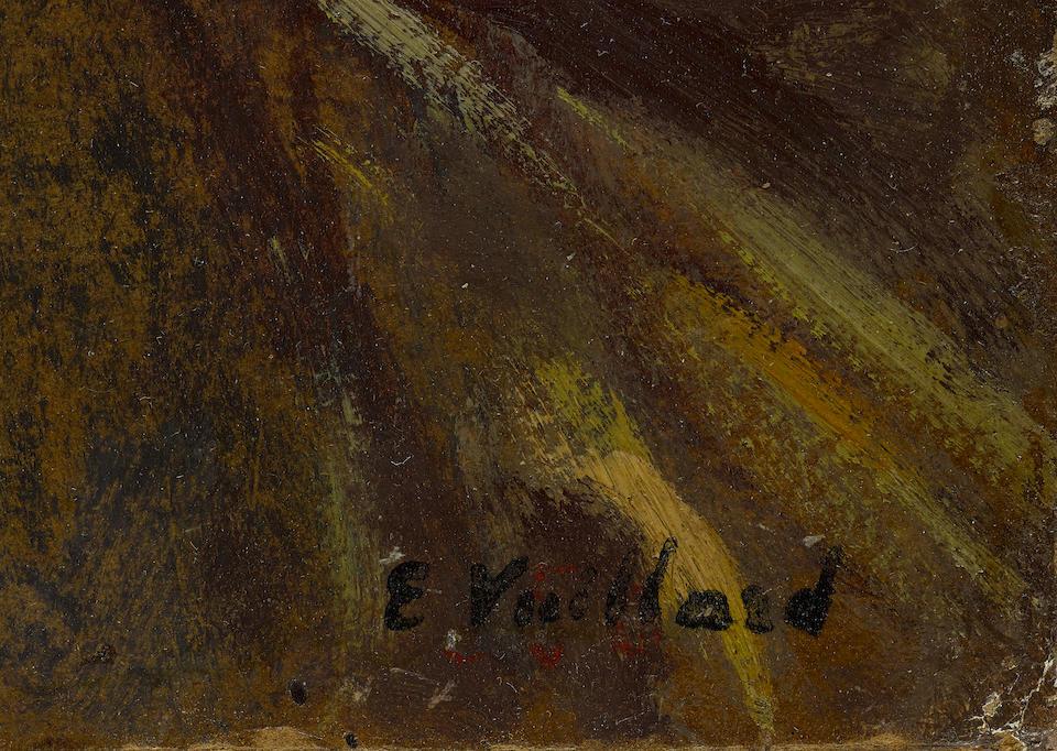 Edouard Vuillard (1868-1940) Le salon des Hessels, Rue de Rivoli 13 7/8 x 22 7/8 in (35.2 x 58.1 cm) (Painted circa 1905)