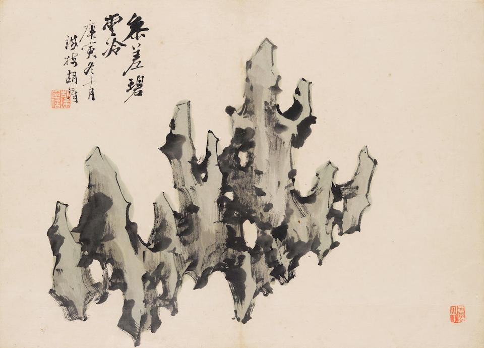 Hu Zhang (1848-1899)  Scholar Rocks, 1890