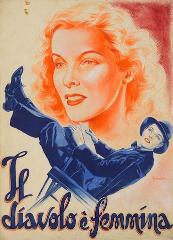 An original artwork of Sylvia Scarlett by Anselmo Ballester